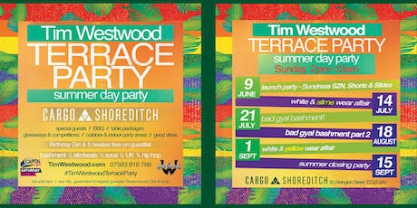 Tim Westwood Summer Terrace Day Party - white & yellow tickets