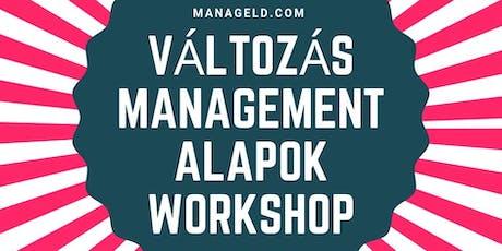 Változás Management Alapok Workshop tickets