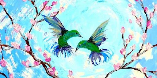 Cherry Blossom Love Birds - Art Class