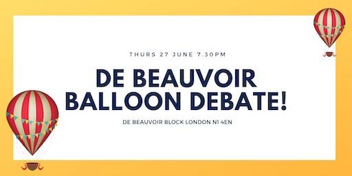 Summer De Beauvoir Balloon Debate