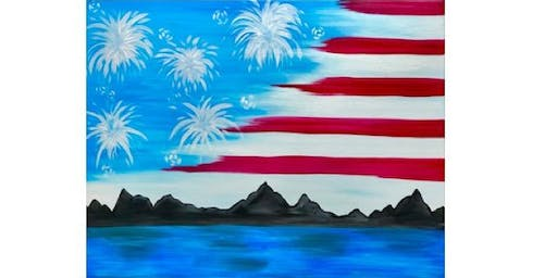 Fireworks Flag Fundraiser -Brixx Ice Company - Paint Party