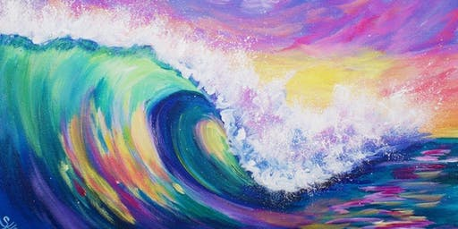 Wave Painting - Art Class