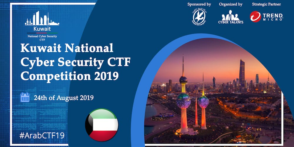 Kuwait National Cyber Security CTF 2019 Tickets, Sat, Aug 24