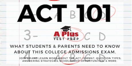 Free Seminar for Parents: ACT / SAT Prep