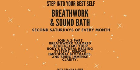 Breath Work & Sound Bath with Gina and Shanila tickets