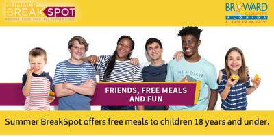 Summer BreakSpot: Free & Nutritious Meals for Kids up to 18 Years of Age