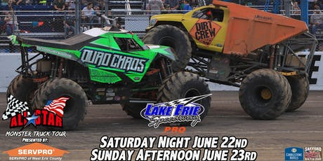 All Star Monster Trucks presented by SERVPRO of West Erie County- Erie, PA tickets