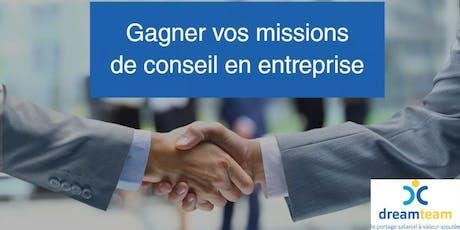 """""""Comment gagner vos missions de conseil en entreprise"""" - 20 juin 2019 - Paris billets"""
