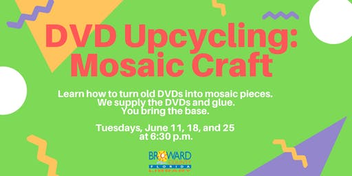 DVD Upcycling: Mosaic Craft. Turn old DVDs into Art Objects