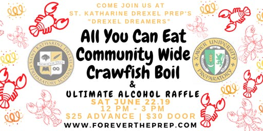 Prep's All You Can Eat Community Crawfish Boil & Ultimate Alcohol Raffle