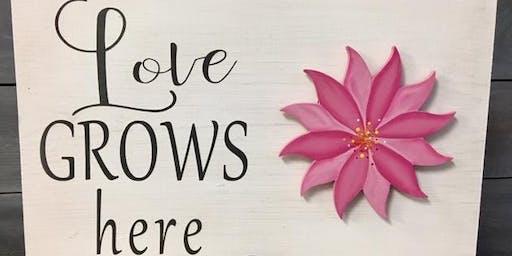 Love Grows Here (Interchangable) Wood Sign