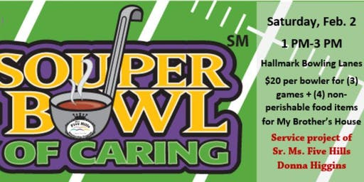 Souper Bowl of Caring Bowling Event to benefit My Brother's House