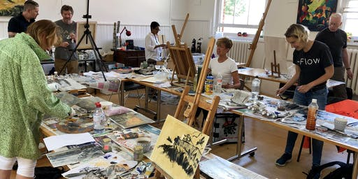September oil painting workshop with Wayne Attwood President of RBSA