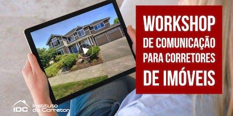 Workshop de Comunicação para Corretores de Imóveis ingressos