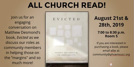 "ALL CHURCH READ: ""Evicted"" by Matthew Desmond tickets"