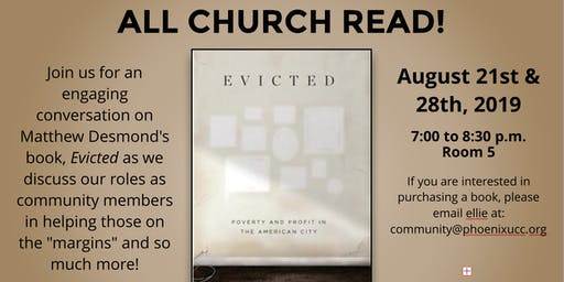 """ALL CHURCH READ: """"Evicted"""" by Matthew Desmond"""