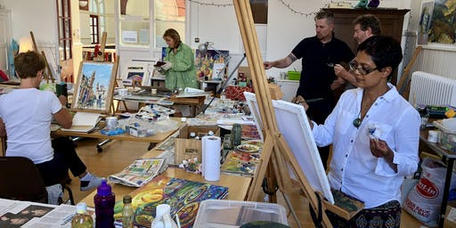October oil painting workshop with Wayne Attwood President of RBSA