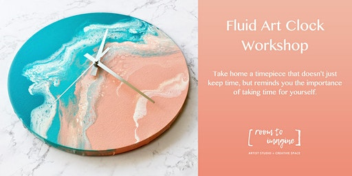 Fluid Art Clock Workshop with Room To Imagine