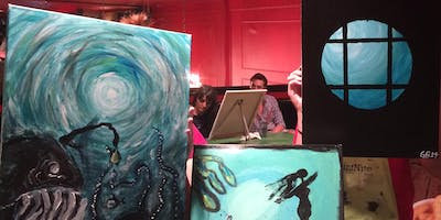 Under The Sea Paint Night at Green Bar