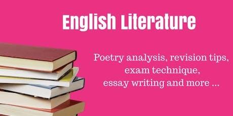 Smash your English GCSE Lit  Paper tickets