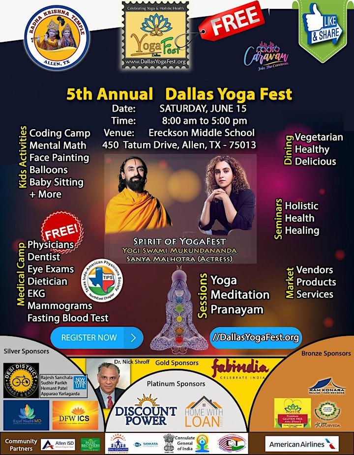 **** FREE  YOGA EVENT **** Dallas Yoga Fest, June 15, Allen image