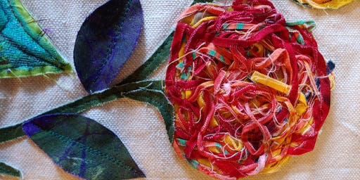 Fabric Remnant Roses
