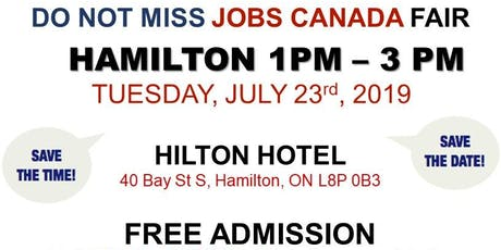 Hamilton Job Fair –  July 23rd, 2019 tickets