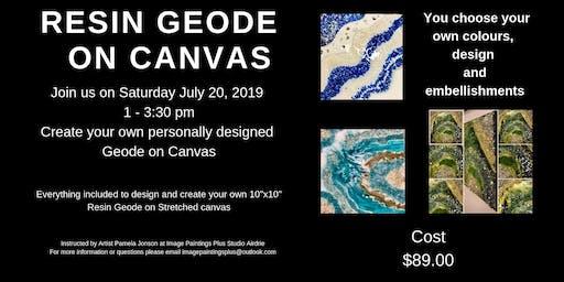 Resin Geode on Canvas Workshop