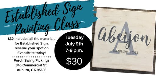 Established Sign Painting Class