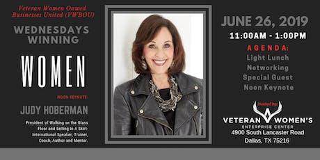 "Wednesdays Winning Women: Presents Judy Hoberman, Bestselling Author ""Walking on the Glass Floor""  tickets"