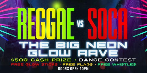 REGGAE Vs SOCA GLOW RAVE AT AMAZURA @GQEVENT