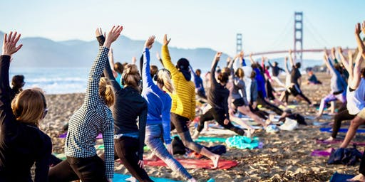 Beach Yoga with Outdoor Yoga SF X The Assembly!
