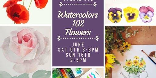 Watercolors 102: Flowers