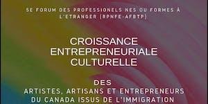 5e/5th Forum RPNFE-AFBTP : Croissance entrepreneuriale...