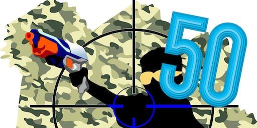 50 person Nerf Blaster Battle