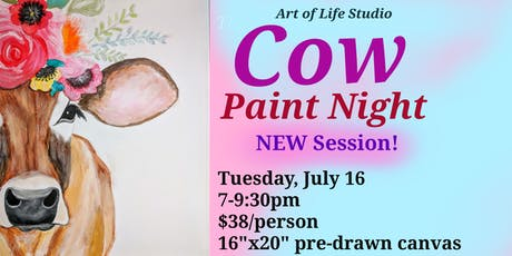 Paint Night: Cow (NEW Session) tickets