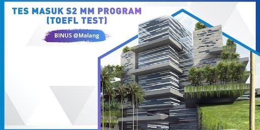 Tes Masuk S2 MM Program BINUS Business School @Malang