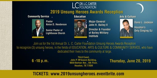 2019 Unsung Heroes Awards Reception