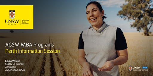 AGSM MBA Information Evening - Perth