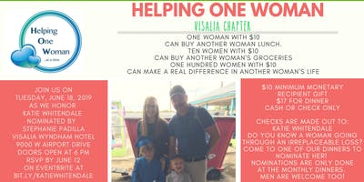 Helping One Woman Visalia honors Katie Whitendale