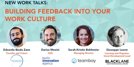 New Work Talks: Building Feedback into your Work Culture tickets