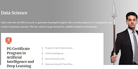 Data Science Course in India - Manipal ProLearn tickets