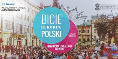 Kraków bije rekord Polski we wspólnym ćwiczeniu jogi