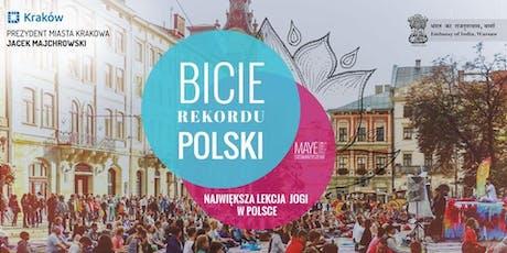 22 czerwca, sobota - Kraków bije Rekord Polski we wspólnym ćwiczeniu jogi  tickets