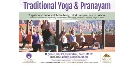 Traditional Yoga and Pranayam tickets