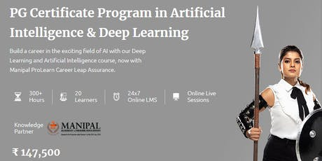 Artificial Intelligence Online Course - Manipal ProLearn tickets