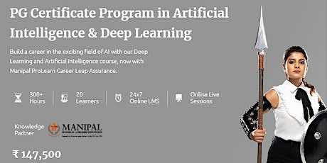 Artificial Intelligence Online Course - Manipal ProLearn biglietti