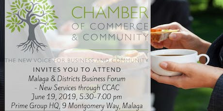 Malaga and Districts Businesses Forum - Chamber of Commerce And Community tickets