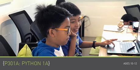 Coding for Kids - P301A: Python 1A Course (Ages 10-12) @ Parkway Parade tickets