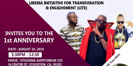 Liberia Initiative for Transformation & Enlightenment 1st Anniversary tickets